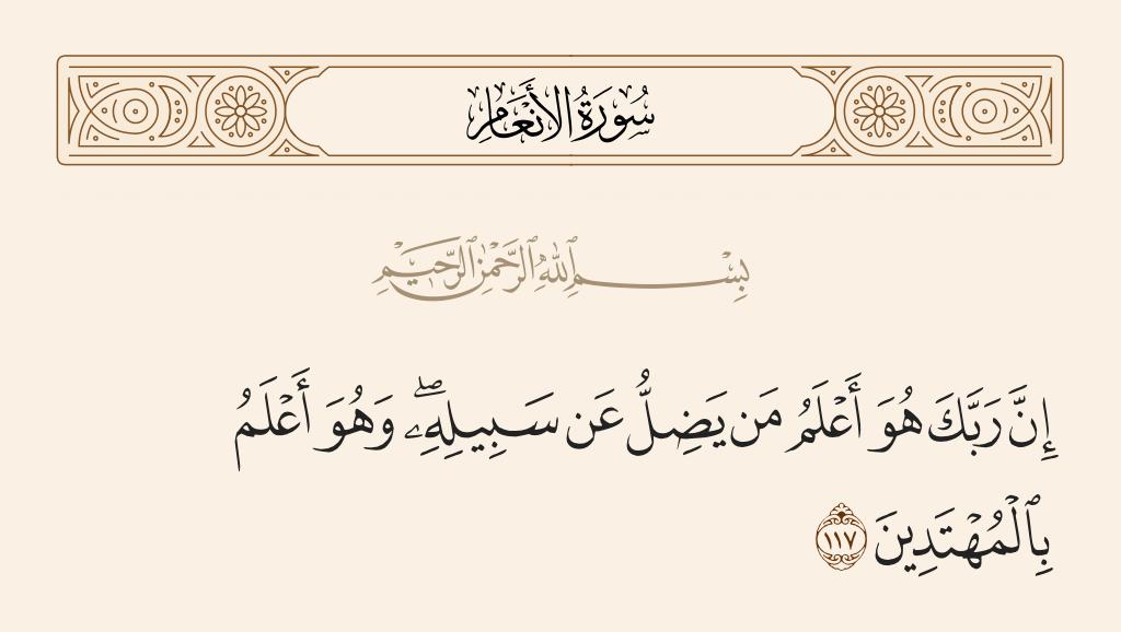 سورة  الأنعام الآية رقم 117