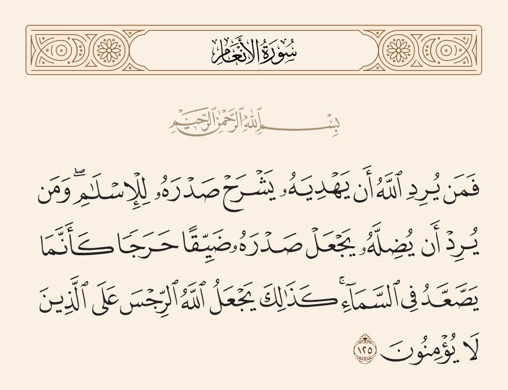 سورة  الأنعام الآية رقم 125