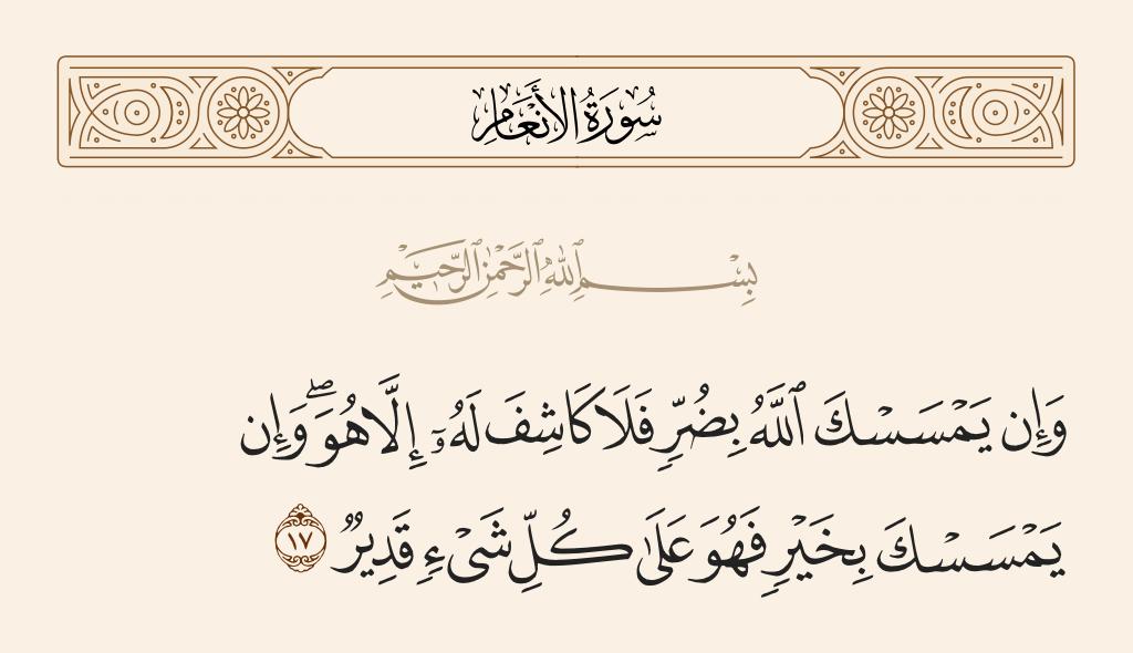 سورة  الأنعام الآية رقم 17