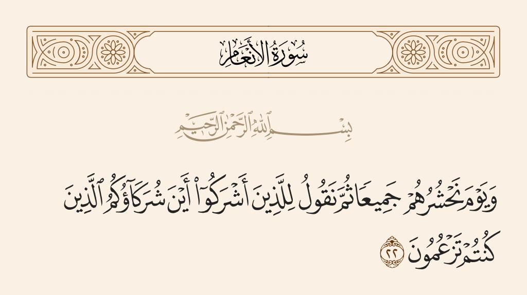 سورة  الأنعام الآية رقم 22