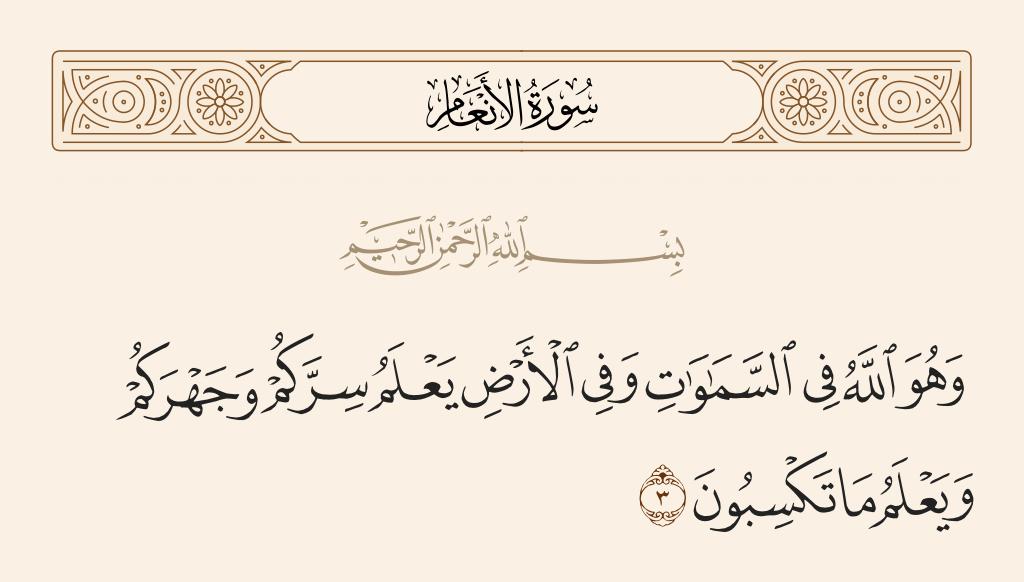 سورة  الأنعام الآية رقم 3