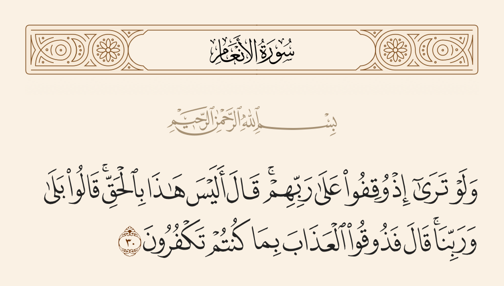 سورة  الأنعام الآية رقم 30