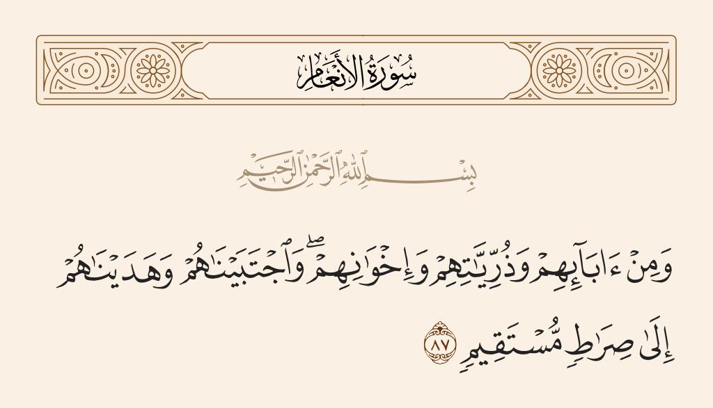 سورة  الأنعام الآية رقم 87