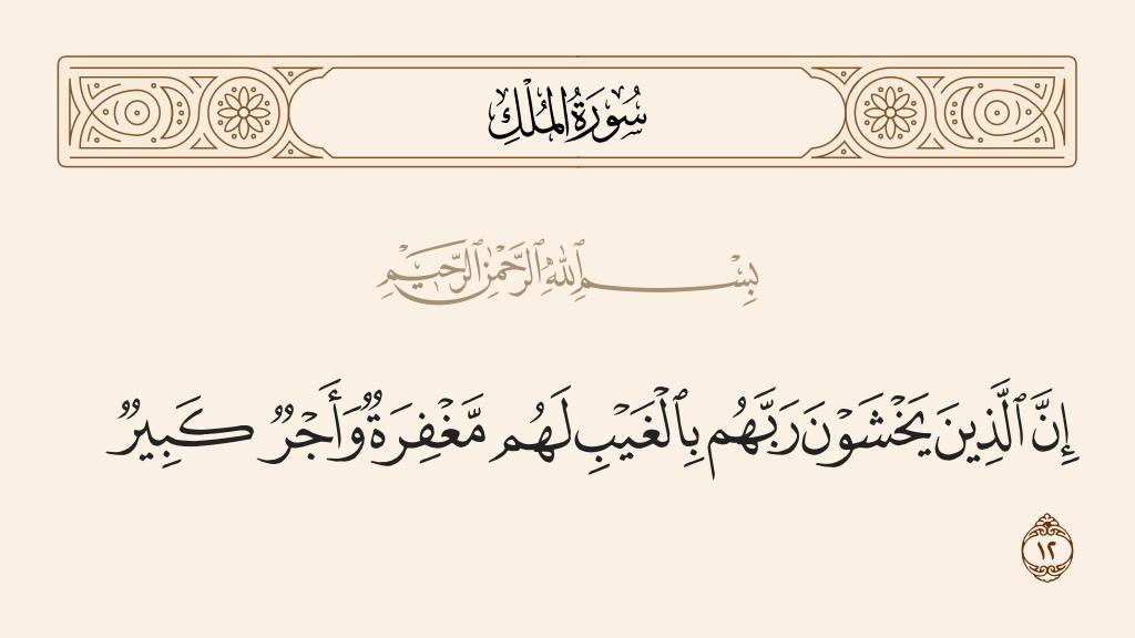 سورة  الملك الآية رقم 12
