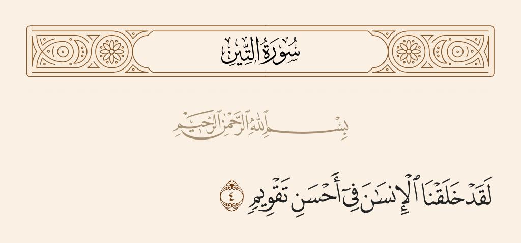 سورة  التين الآية رقم 4