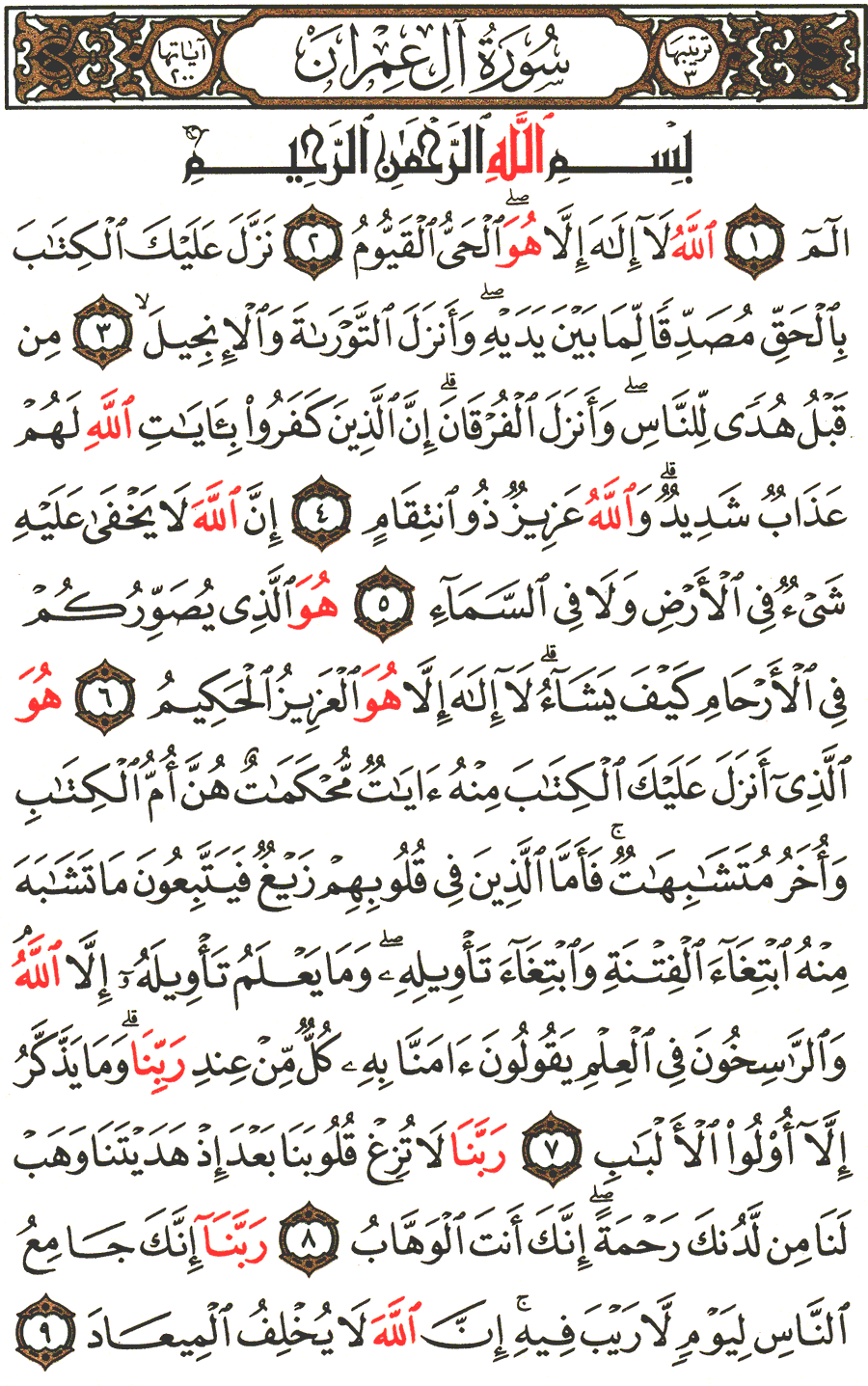 Surah Al Imran English Translation Of The Meaning