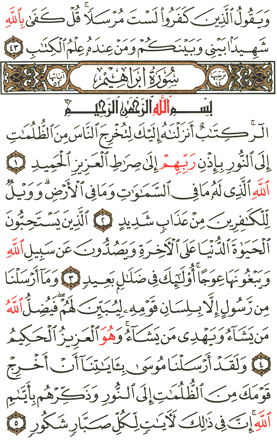 Page No 255   The Noble Quran