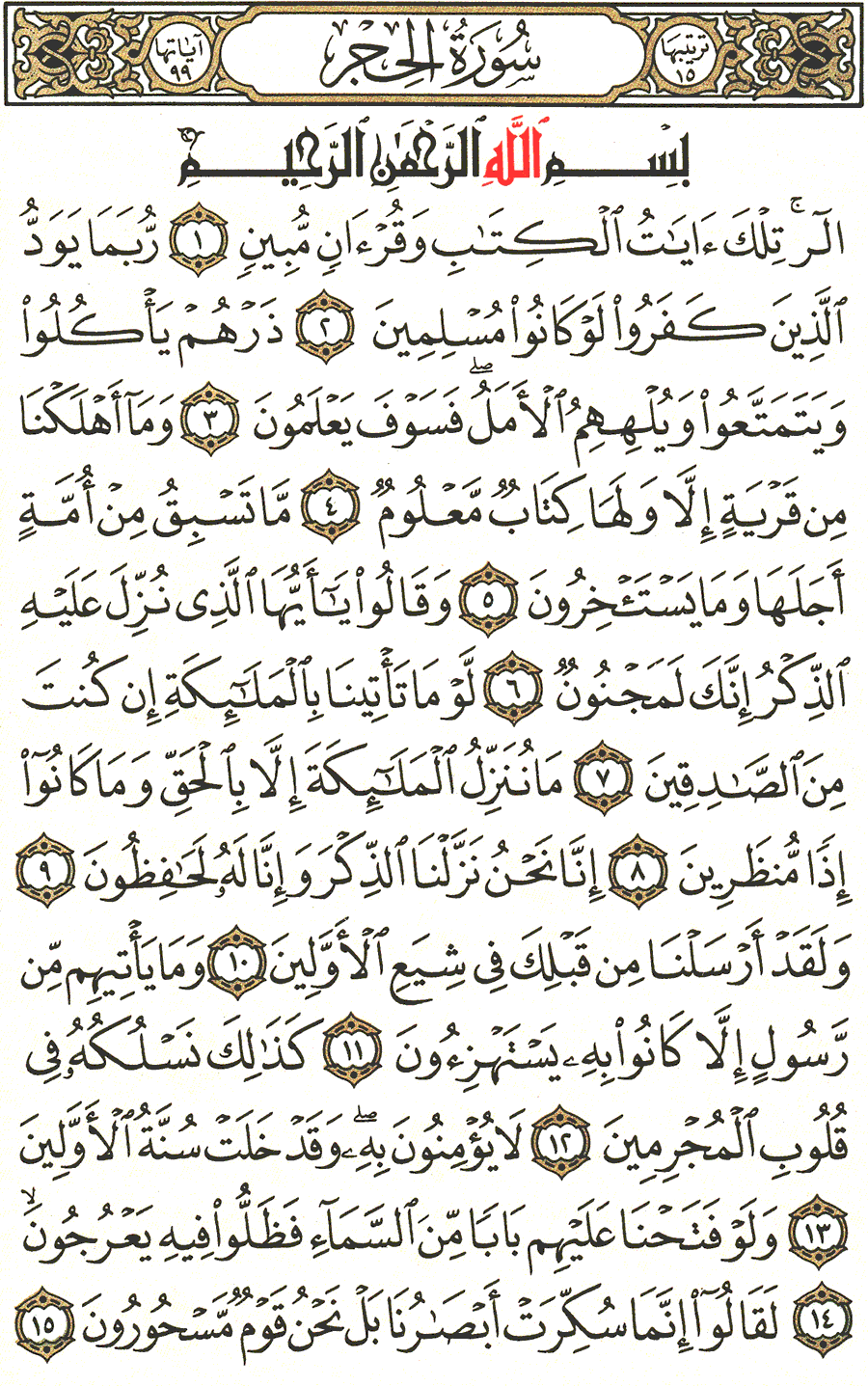 Page No 262   The Noble Quran
