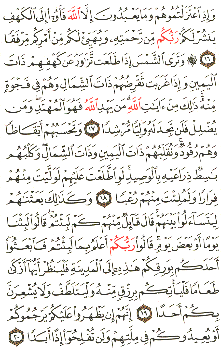 تفسير الآية 16 إلى 20 من سورة الكهف المختصر في التفسير