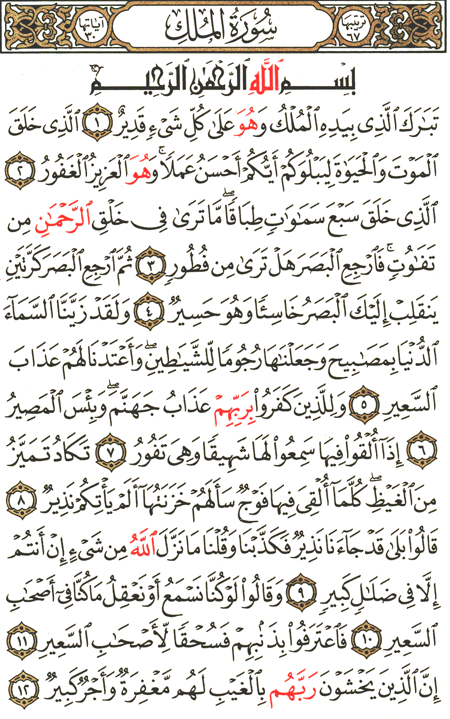 Page No 562  The Noble Quran