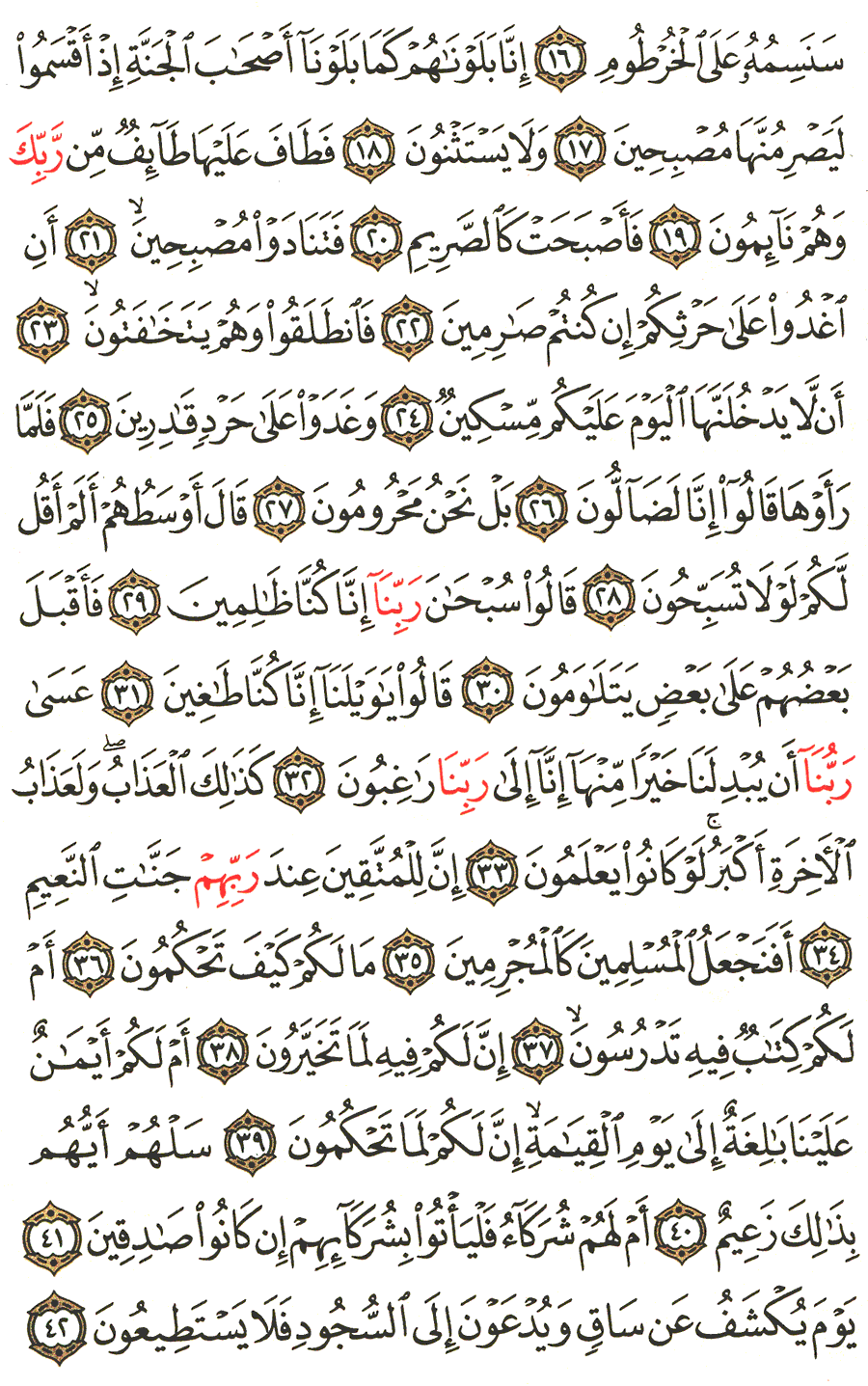 Page No 565  The Noble Quran