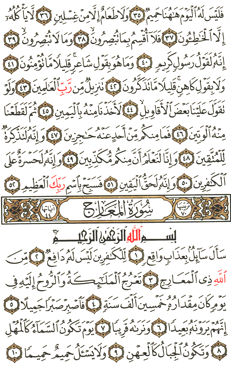 Page No 568  The Noble Quran
